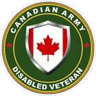 Canadian Army Disabled Veteran Decal / Sticker