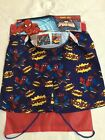 New Marvel Spiderman Childrens Boys Swimming Shorts Trunks & Drawstring Bag Set