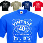 Vintage Since 1975, 40th Birthday Gift FUNNY MENS COTTON T-SHIRT UPTO SIZE  5XL.