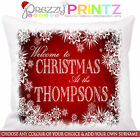 ❤PERSONALISED CHRISTMAS CUSHION ANY TEXT GRANDAD NAN MOM DAD GIFT FAMILY CHIC❤