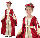 Childrens Red Princess Fancy Dress Costume Tudor Juliet Book Week Outfit 3-13
