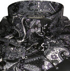 Mens Shirt Black Paisley Button Down Shirt Long Sleeve Luxury Cotton Mr Free