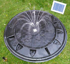 Pebble Pool Solar Fountain Garden Water Feature LED Lights New