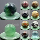 40mm Natural Gemstone Round Ball Crystal Healing Decor Statue Sphere Wholesale
