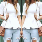 Fashion Women's Casual Short Sleeve Loose Summer T-shirt Tops Shirt Blouse Dress