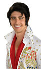 Adult Officially Licensed Elvis Presley Wig Halloween Costume Hair The King Mens