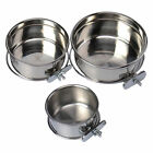 Omni Pet Stainless Steel Coop Cup  food or Water Bowl For Dog Or Bird Cage Crate