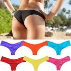 Bikini Women Brazilian Cheeky Bottom Thong V Swimwear Swimsuit Size 6 8 10 12 FO
