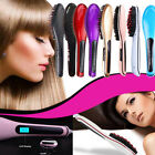 Electric Pro Automatic LCD Temperature Control Paddle Brush Hair Straightener US
