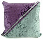 Large cushions crush velvet 2 Rows Diamante 2 Tone Covers 17X17