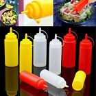 8-32oz Kitchen Plastic Squeeze Bottle Dispenser Cruet for Sauce Vinegar Ketchup
