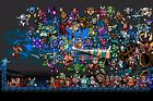 RGC Huge Poster - Shovel Knight and Mega Man Retro Art Playstation PS4 - SHK002