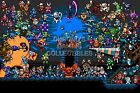 RGC Huge Poster - Shovel Knight and Mega Man Retro Art Playstation PS4 - SHK001