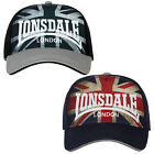 Lonsdale Baseball Cap Hat Union Jack Flag Logo Blue or Black One Size Cotton