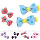 2x Girls Student Children Toddler Cute Lovely Sweet Dot Bow Hair Clip Bands Gift