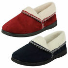 LADIES SANDPIPER TEXTILE SLIP ON SLIPPERS (2 COLOURS) STYLE: ILA