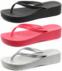 Ipanema Brasil Platform Womens Wedge Beach Flip Flops ALL SIZES AND COLOURS