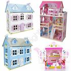 LEOMARKS KIDS DOLL HOUSE WITH FURNITURE PLAY HOUSE GIRLS GIFT NEW FREE P+P