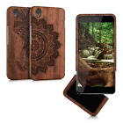 kwmobile WOOD COVER FOR ONEPLUS X DESIRED COLOUR CASE BACK HARD NATURAL MOBILE