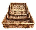Wicker Storage Basket Willow Gift Hamper Tray Wicker Bread Storage Kitchen Bar