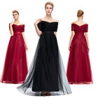 50s Vintage Red Black Long Evening Bridesmaid Ballgown Formal Party Prom Dress