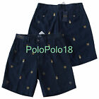 New Polo Ralph Lauren Multi Crest Embroidered Shorts 29 33 34 36 40