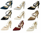 """Ladies Anne Michelle Pointed Court Shoes with 3.5"""" Heel Style F10551"""