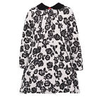 Rare Editions Little Girls Red Peplum Dress White Black Roses Coat Outfit 2-6X