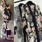 Women Blouse Printed Chiffon Shawl Kimono Casual Cardigan Cover Up Tops TXWD