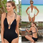 Monokini Women One Piece Backless Padded Swimwear Swimsuit Push Up Bikini AU8-16
