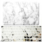 White Marble Paint Hard Case for Macbook Air/Pro 13 15 +Decal Ink Keyboard Cover