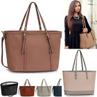 Women's Faux Leather X Large Shopper Bags Tote Basket Soft Handbags