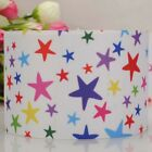 "3""75mm white colorful star pattern printed grosgrain ribbon USA Independent day"