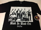 Blood In Blood Out Black Shirt L-3XL Screen Printed One Deep Piranha Records