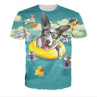 Newest Fashion Women/Mens Cartoon Puppy Party Funny 3D Print Casual T-Shirt