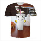 Newest Fashion Women/Mens Master Shake in Real Life 3D Print Casual T-Shirt