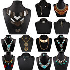 Fashion Women's Floral Crystal Rhinestone Chain Choker Pendant Necklace 27 Style