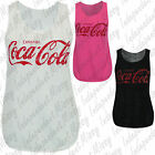 Womens Ladies Sleeveless Drink Coca Cola Printed Racer Back Vest T Shirt Top