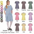 Large Size School Summer Gingham Dresses School Wear Uniform Size 34 36 38 40