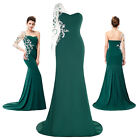 New Formal Long Evening Ball Gown Party Prom Bridesmaid Dress UK 4/6/8/10/12/18