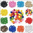 4mm 6mm 8mm 10mm 12mm 14mm 100pcs Round Wood Ball Spacer Loose Beads Pick Size