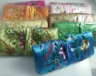 Jewellery Floral Embroidered Roll Holder Travel Bag Organiser Makeup Jewelry