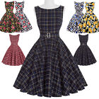 Womens VINTAGE 40'S 1950S SWING PIN UP Evening PROM Party Dress Skater Skirt New