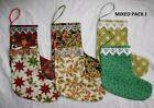 HAND-MADE FABRIC CHRISTMAS STOCKINGS PACK