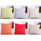"18"" Simple Color Solid Cotton Linen Pillow Case Throw Cushions Cover Home Decor"