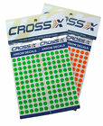 New Cross-X Archery Arrow Shaft Decal Numbers Numerals Green Orange 12 x sets