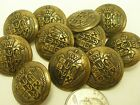 New Military Brass tone Metal Buttons Royal Crest 5/8, 7/8 ,13/16 ,  inch # AB