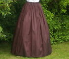 Ladies Victorian / Edwardian costume SKIRT gentry / ball gown fancy dress brown