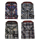 Mens Short Sleeve Summer Polycotton Check Shirt 3xl - 5xl By Tom Hagan