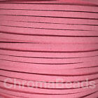 Faux Suede Leather Cord thong, 3mm x 1.5mm, choice of 55 colours, choose length <br/> 1m, 2m, 3m, 5m, 10m, 20m options